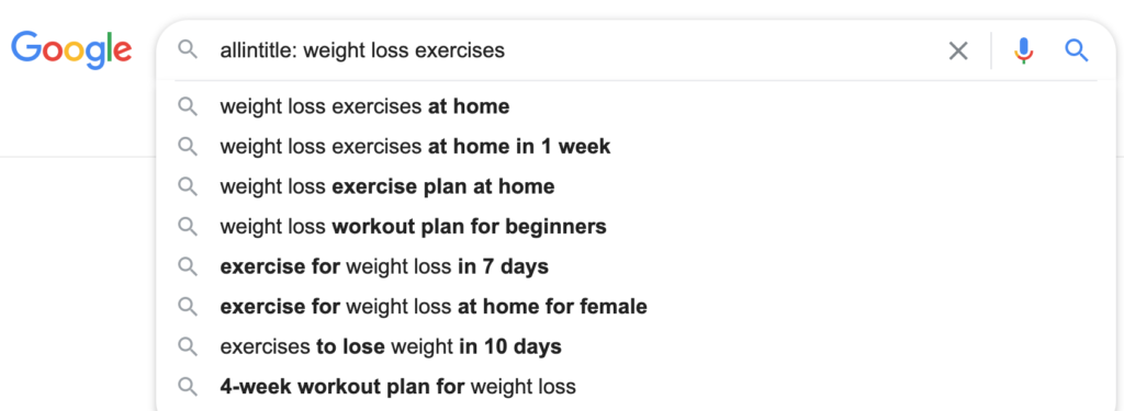 Weight Loos Excercises